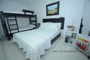 Hotel Villeta Suite Habitación Cuadruple Ventilador